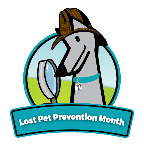 Lost Pet Prevention Month Logo